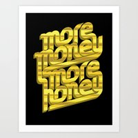 Art Print featuring More Money, More Honey by Viet Huynh