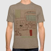 Rich People Mens Fitted Tee Tri-Coffee SMALL