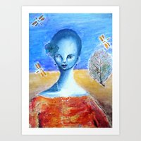 She Sang for the Dragonflies Art Print