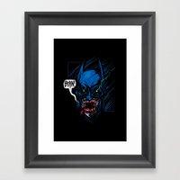 Batzombie Framed Art Print