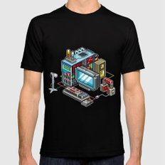 8bit computer SMALL Mens Fitted Tee Black