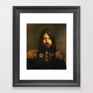 Framed Art Print featuring Dave Grohl - Replaceface by Replaceface
