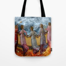 The balcony of heaven Tote Bag