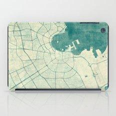 Doha Map Blue Vintage iPad Case