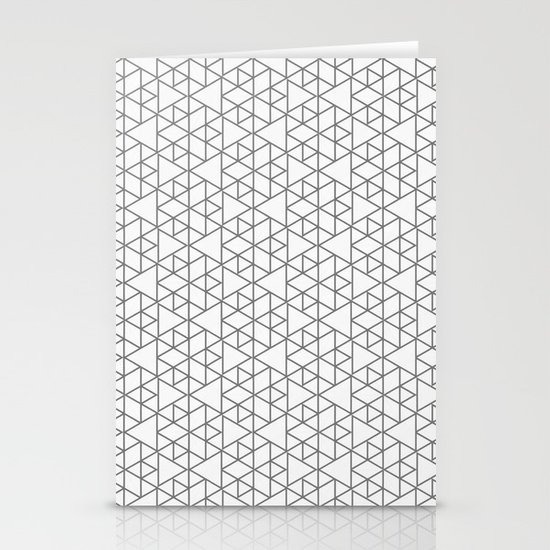 Karthuizer Grey & White Pattern Stationery Card