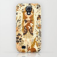 Galaxy S4 Cases featuring The Queen of Pentacles by Teagan White