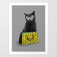 The Cat In The Bag Of Tr… Art Print