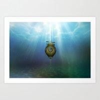 Steampunk Submarine Art Print
