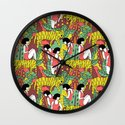 Tiger Pattern Wall Clock