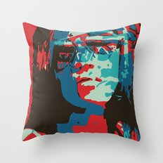 Portrait in Red Throw Pillow