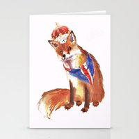 QUEEN's JUBILEE Fox - 8x… Stationery Cards