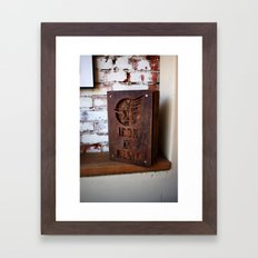 Iron and Resin Framed Art Print
