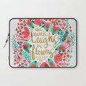 The Earth Laughs in Flowers – Pink & Gold Laptop Sleeve