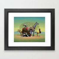 Skin-Swap Safari Framed Art Print