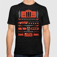 1.21 Stitches Mens Fitted Tee Tri-Black SMALL