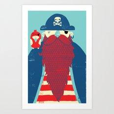 Old Captain Redbeard Art Print