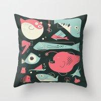 Weird Fishes Throw Pillow
