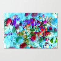 Secret Garden II - Floral Abstract Art Canvas Print
