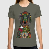 Great Dane love beige Womens Fitted Tee Lieutenant SMALL