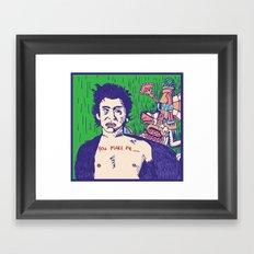Richard Hell and the Apocalypse Framed Art Print