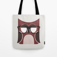 Hipster Owl Art Print Tote Bag