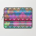 Neon Aztec | Purple Pink Neon Bright Andes Abstract Pattern Laptop Sleeve