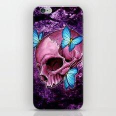 pink skull iPhone & iPod Skin
