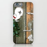 iPhone & iPod Case featuring Theo and the Worm by Teodoru Badiu