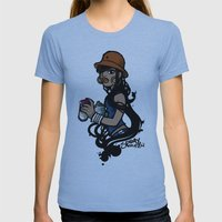 Spray Queen (Alternate T-shirt Version) Womens Fitted Tee Athletic Blue SMALL
