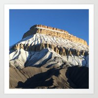 Mt Garfield Dust Art Print