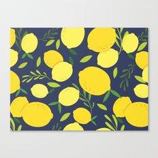 Freshly Picked Lemon Canvas Print