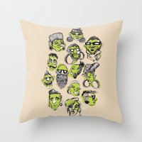 Tribe City Throw Pillow