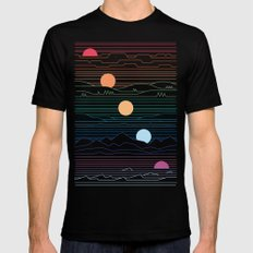 Many Lands Under One Sun Black SMALL Mens Fitted Tee