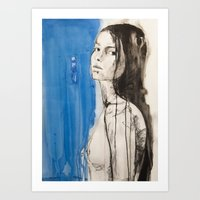 The Figure Of A Woman Cr… Art Print
