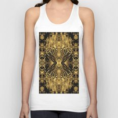 Beautiful Gold Brown  Traditional Pattern Unisex Tank Top
