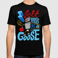 Loose as a Goose Black SMALL Mens Fitted Tee