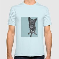 Zoe Mens Fitted Tee Light Blue SMALL
