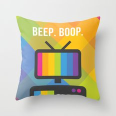 Beep. Boop. Throw Pillow