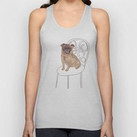 Pug on a chair Unisex Tank Top