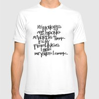 My Thoughts Are Strong Mens Fitted Tee White SMALL