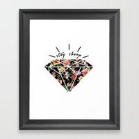 Stay Sharp! Framed Art Print