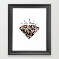 Stay Sharp! Framed Art Print