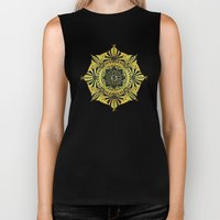 Golden Geometry Biker Tank