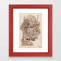 Double Double Toil And T… Framed Art Print