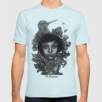 Nature By Davy Wong Mens Fitted Tee Light Blue SMALL