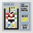 TETRIS: Defender Type Canvas Print