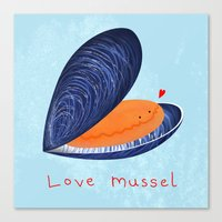 Love Mussel Canvas Print