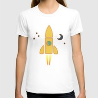 Spaceship  Womens Fitted Tee White SMALL