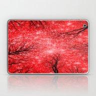 Black Trees Red Sky Laptop & iPad Skin