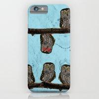 Perched Owls Print iPhone 6 Slim Case